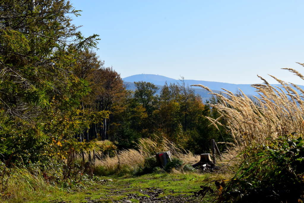 Pohled na Radhošť z Huštýna