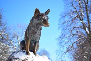 Socha lišky Bystroušky