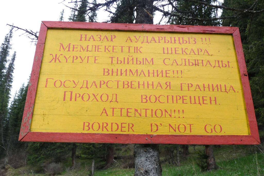 Pozor hranice, Kazachstán, Kyrgyzstán
