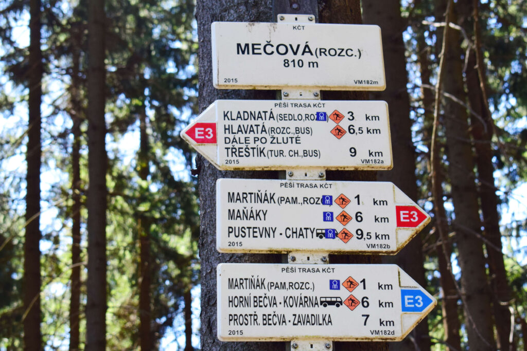 Turistický rozcestník, Mečová