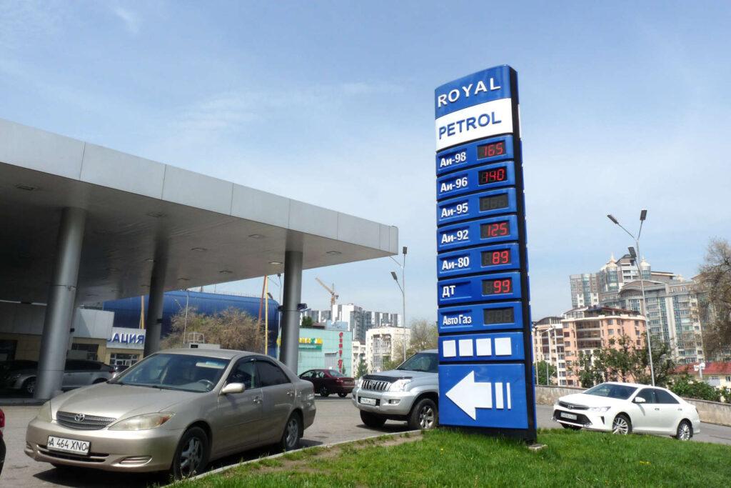 Ceny benzinu, Kazachstán